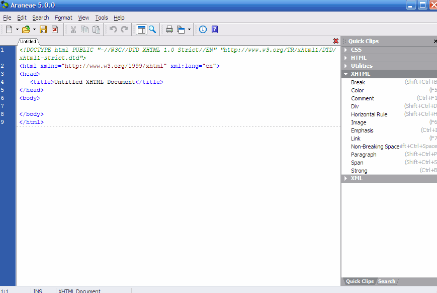araneae Text Editor for Programming