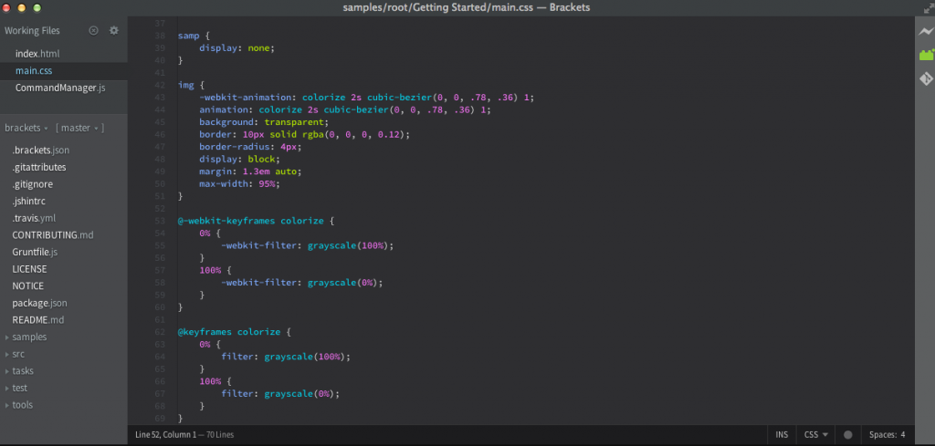 Brackets Text Editor for Programming