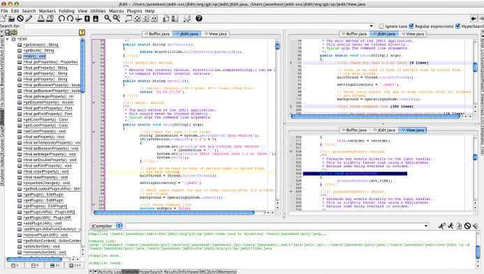 jEdit Text Editor for Programming