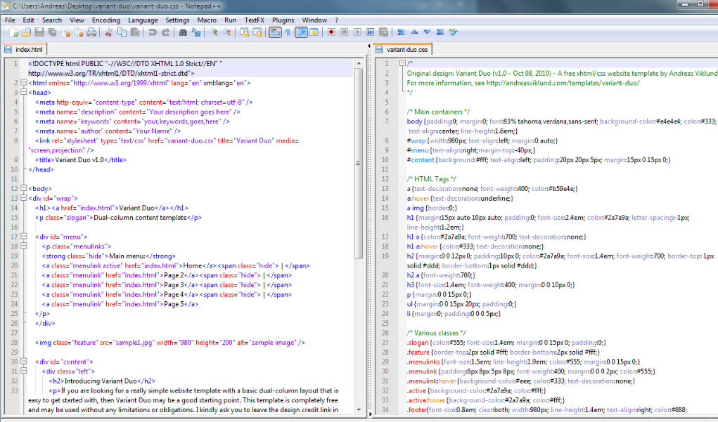 Notepad++ Text Editor for Programming