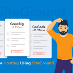 Buy Website Hosting Using SiteGround